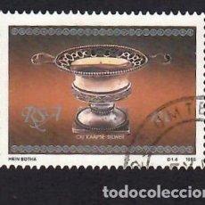 Selos: SUDÁFRICA (1985). PLATERÍA DE EL CABO: AZUCARERO. YVERT Nº 592. USADO.. Lote 293915958