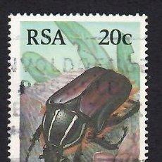Selos: SUDÁFRICA (1987). COLEÓPTEROS: TRICHOSTETHA FASCICULARIS. YVERT Nº 619. USADO.. Lote 293916653