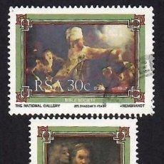 Selos: SUDÁFRICA (1987). SOCIEDAD NACIONAL DE LA BIBLIA. YVERT 632-633. USADOS.. Lote 293919993
