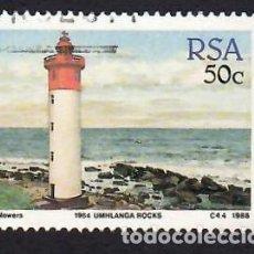 Selos: SUDÁFRICA (1988). FARO DE UMHLANGA ROCKS. YVERT Nº 659. USADO.. Lote 293921103