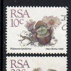 Selos: SUDÁFRICA (1988). CACTUS. YVERT NÚMS. 664, 666 Y 673 USADOS.. Lote 293922313