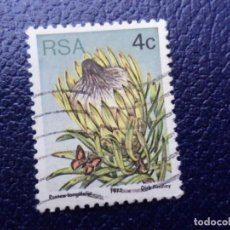 Sellos: AFRICA DEL SUR, 1977, FLORES, YVERT 419. Lote 295507918