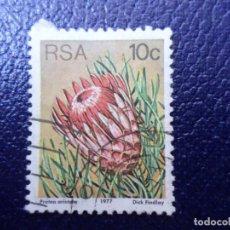 Sellos: AFRICA DEL SUR, 1977, FLORES, YVERT 425. Lote 295508353
