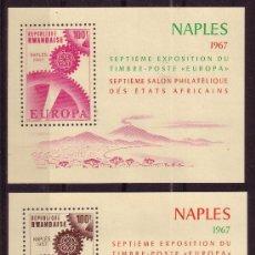 Stamps - RUANDA HB 8/9** - AÑO 1967 - EXPOSICIÓN FILATÉLICA EUROPA - 24647706