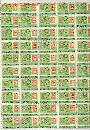 PRECIOSO PLIEGO DE 50 SELLOS DE TANZANIA TEMATICO NUEVO (Sellos - Extranjero - África - Otros paises)