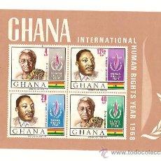 Sellos: GHANA INTERNATIONAL HUMAN RIGHTS YEAR 1968. Lote 26299819