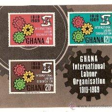Sellos: GHANA INTERNATIONAL LABOUR ORGANISATION 1919 -1969. Lote 26299820