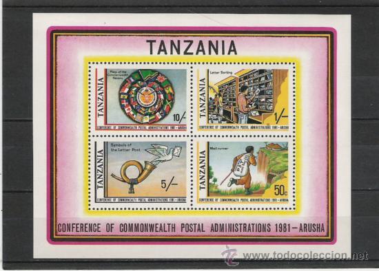 TANZANIA HOJITA TEMATICA (Sellos - Extranjero - África - Otros paises)