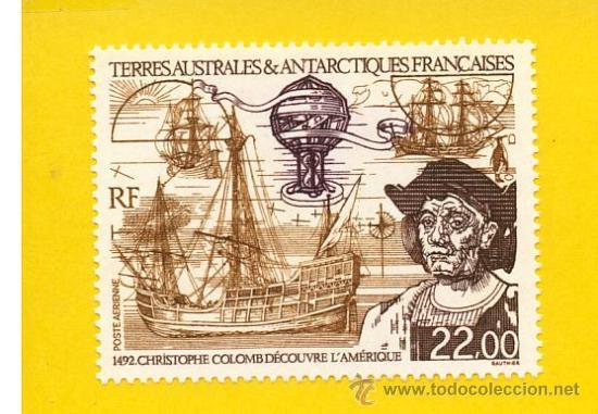 TIERRAS AUSTRALES ANTARTICAS FRANCESAS CRISTOBAL COLON 1 V. BARCOS (Sellos - Extranjero - África - Otros paises)