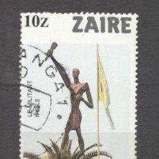 Sellos: ZAIRE (ANTIGUO CONGO BELGA), TURISMO.MONUMENTO DE KINSHASA. Lote 18502330