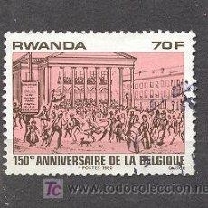 Sellos: RWANDA- 150º ANIVERSARIO DE BELGICA- 1980. Lote 18524280