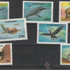 Sellos: TANZANIA GRAN SERIE DE FAUNA. Lote 26358685