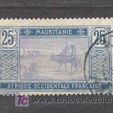 Sellos: MAURITANIE,(AOF)1913-19- YVERT TELLIER 24. Lote 21174082