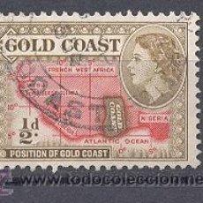 Sellos: GOLD COAST (GHANA) COLONIA BRITANICA, 1952- MAPA. Lote 21795497