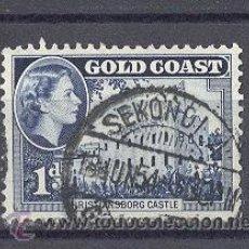 Sellos: GOLD COAST (GHANA) COLONIA BRITANICA, 1952- CASTILLO DE CHRISTIANBORG. Lote 21795508