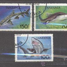 Sellos: TANZANIA-1993- PECES- NUEVOS, PREOBLITERADOS. Lote 21832676