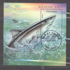 Sellos: TANZANIA-1993- HOJITA BLOQUE- NUEVOS, PREOBLITERADOS. Lote 21832788
