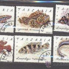 Sellos: TANZANIA-1991- PECES- NUEVOS, PREOBLITERADOS. Lote 21832894