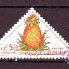 Stamps - GABON***.COLONIA FRANCESA.FLORES/FRUTAS.3 VALORES NUEVOS SIN FIJASELLOS.FORMATO TRIANGULO. - 21966187