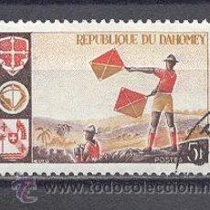 Sellos: DAHOMEY, REPUBLIQUE-1966,YVERT TELLIER 242- CON GOMA. Lote 22096003