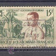 Sellos: AFRIQUE EQUATORIALE FRANÇAISE- 1954--YVERT TELLIER 229. Lote 22097331