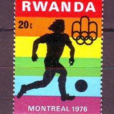Sellos: RWANDA/RUANDA****.MONTREAL 1976.FUTBOL.1 VALOR NUEVO SIN FIJASELLOS.. Lote 22201876