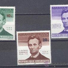 Sellos: REPUBLICA RWANDAISE, NUEVOS, SEÑAL DE CHARNELA. Lote 22600625