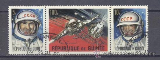 REPUBLIQUE DE GUINÉE- 1966 -COSMONAUTAS SOVIETICOS- PREOBLITERADO (Sellos - Extranjero - África - Otros paises)