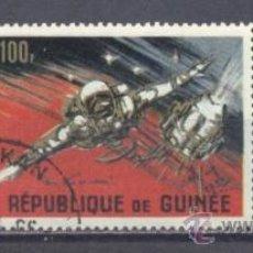 Sellos: REPUBLIQUE DE GUINÉE- 1966 -COSMONAUTAS SOVIETICOS- PREOBLITERADO. Lote 23166550