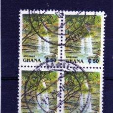 Sellos: SELLOS EN BLOQUE DE 4 DE GHANA USADOS. Lote 23248228