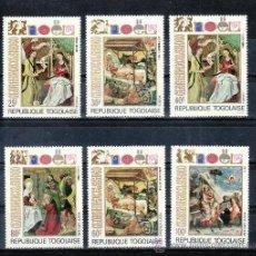 Sellos: TOGO 760/2, A 193/5 SIN CHARNELA, NAVIDAD, RELIGION, PINTURA, . Lote 23927044