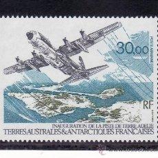 Sellos: TIERRAS AUSTRALES & ANTARTICAS FRANCESA A 128 SIN CHARNELA, AVION, INAUGURACION PISTA TIERRA ADELIE. Lote 23930778