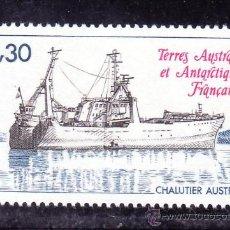 Sellos: TIERRAS AUSTRALES & ANTARTICAS FRANCESA 100 SIN CHARNELA, BARCO ARRASTRERO. Lote 23931914