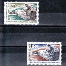 Sellos: TIERRAS AUSTRALES & ANTARTICAS FRANCESA 89/90 SIN CHARNELA, FAUNA, -FOCA-. Lote 23931937