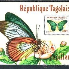 Sellos: TOGO HB 164 SIN CHARNELA, FAUNA, MARIPOSAS. Lote 26872695