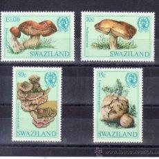 Sellos: SWAZILAND 460/3 SIN CHARNELA, FLORES, SETAS, CHAMPIÑONES. Lote 24142324