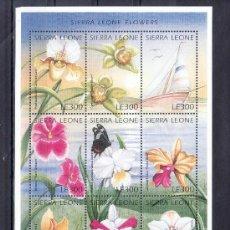 Sellos: SIERRA LEONA 2256/64 SIN CHARNELA, FLORES DE SIERRA LEONA. Lote 24229608