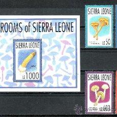 Sellos: SIERRA LEONA 1646/9, HB 214 SIN CHARNELA, FLORES, CHAMPIÑONES, SETAS COMESTIBLES, . Lote 24229630
