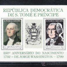 Sellos: SANTO TOME Y PRINCIPE 688 EN HB SIN CHARNELA, 250º ANIVERSARIO NACIMIENTO JORGE WASHINGTON . Lote 26226909