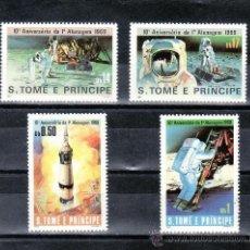 Sellos: SANTO TOME Y PRINCIPE 594/7 SIN CHARNELA, ESPACIO, 10º ANIVERSARIO DEL PRIMER HOMBRE SOBRE LA LUNA,. Lote 24315465
