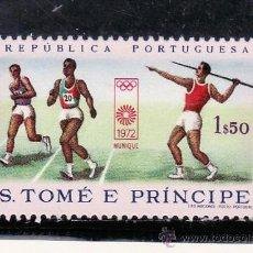 Sellos: SANTO TOME Y PRINCIPE 415 SIN CHARNELA, DEPORTE, JUEGOS OLIMPICOS DE MUNICH, . Lote 24315733