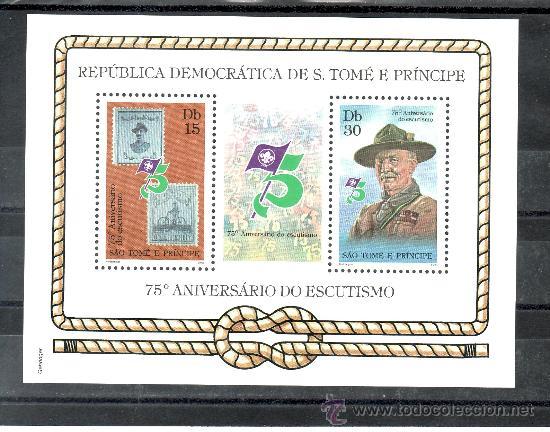 SANTO TOME Y PRINCIPE HB AÑO 1982 SIN CHARNELA, DEPORTE, 75º ANIVERSARIO DEL SCOUTS, (Sellos - Extranjero - África - Otros paises)