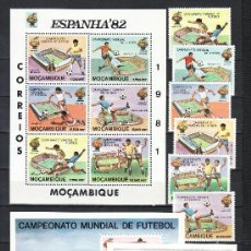 Sellos: MOZAMBIQUE 782/7, HB 8, 2 HB RECUERDO SIN CHARNELA, DEPORTE, ESPAÑA 82 COPA DEL MUNDO DE FUTBOL. Lote 24716473