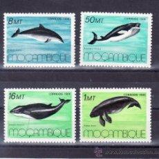 Sellos: MOZAMBIQUE 1037/40 SIN CHARNELA, FAUNA, MAMIFEROS MARINOS, CETACEOS . Lote 24695680