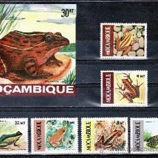 Sellos: MOZAMBIQUE 1002/7, HB 15 SIN CHARNELA, FAUNA, ANFIBIOS, RANA . Lote 24695745