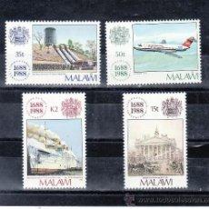 Sellos: MALAWI 529/32 SIN CHARNELA, AVION, BARCO, TRICENTENARIO DE LA COMPAÑIA ASEGURADORA LLOYD . Lote 24805716