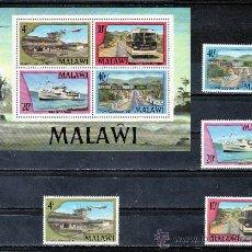 Sellos: MALAWI 287/90, HB 48 SIN CHARNELA, TRANSPORTES, AVION, BARCO, CARRETERA, FF.CC., AUTOBUS, . Lote 24806177