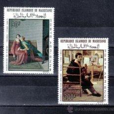 Sellos: MAURITANIA A 70/1 SIN CHARNELA, PINTURA CENTENARIO DE LA MUERTE DE DOMINIQUE INGRES. Lote 24782354