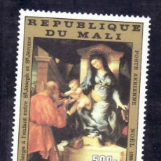 Sellos: MALI A 501 SIN CHARNELA, NAVIDAD, PINTURA DE LORENZO LOTTO. Lote 24787447