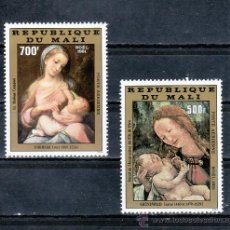 Sellos: MALI A 434/5 SIN CHARNELA, NAVIDAD, PINTURA, . Lote 24787821